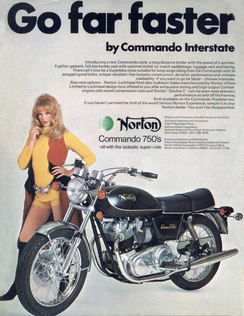 1972 Norton 750 Commando Interstate Combat
